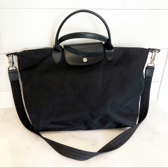3f986cbce82 Longchamp Handbags - Longchamp Medium Le Pliage Neo Top Handle Tote Bag